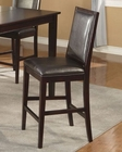 Alpine Faux Leather Pub Chair Jackson AL652-03 (Set of 2)