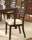 Alpine Ladder Back Arm Chair Livingston AL6533-12A (Set of 2)