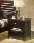 Alpine Night Stand w/Drawer & Shelf in Dark Cherry Portola ALPB-02DCM