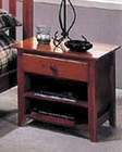 Alpine Night Stand w/Drawer & Shelf in Light Cherry Portola ALPB-02LC