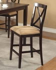 Alpine Pub Chair w/ Microfiber Cushion Jackson AL652-02 (Set of 2)