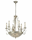 ELK andalusia Collection 6+3 Light Chandelier in Aged Silver EK-11696-6-3