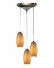 ELK Andover Collection 3 Light Chandelier in Satin Nickel EK-10330-3TB