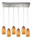 ELK Andover Collection 6 Light Chandelier in Satin Nickel EK-10330-6RC-TB