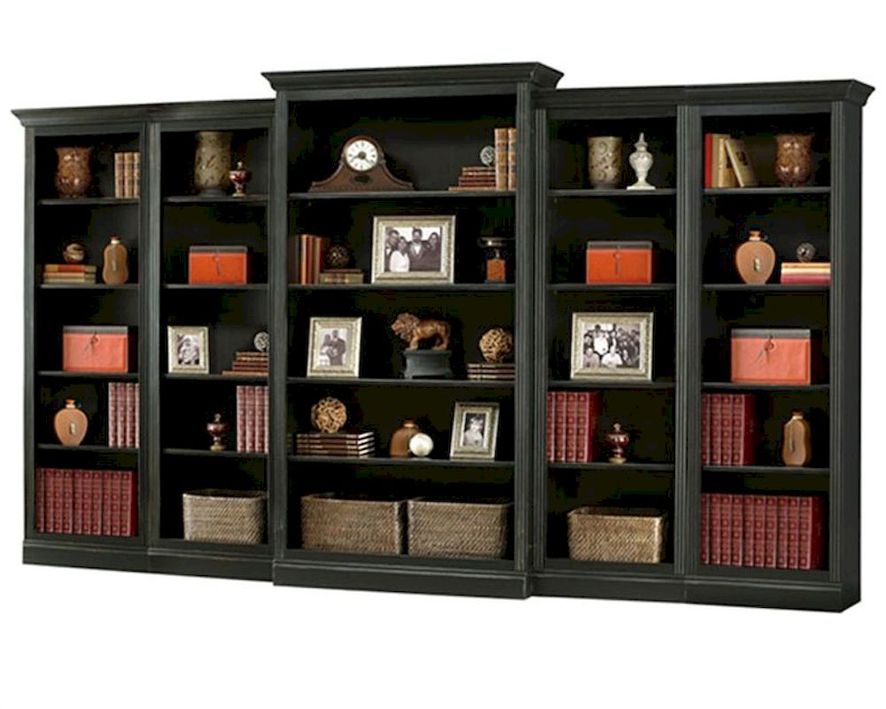 Antique Black Bookcase Wall Oxford By Howard Miller Hm 920