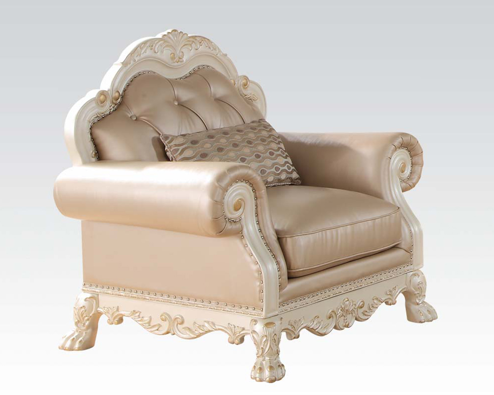 - Antique White Chair Dresden By Acme Furniture AC53262