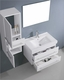 Antonio 29in Single Bathroom Set in White by Virtu USA VU-UM-3081-C-WH