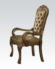 Arm Chair Dresden Gold by Acme Furniture AC63154 (Set of 2)