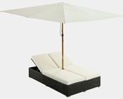 Arrival Outdoor Chaise in Espresso, White by Modway MY-EEI980WT