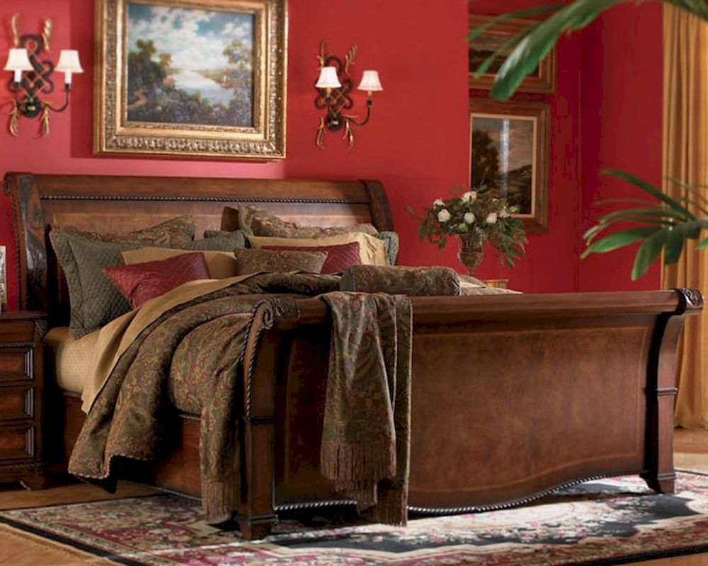 Aspen bedroom furniture sleigh bed napa as74 400 Aspen home bedroom furniture prices