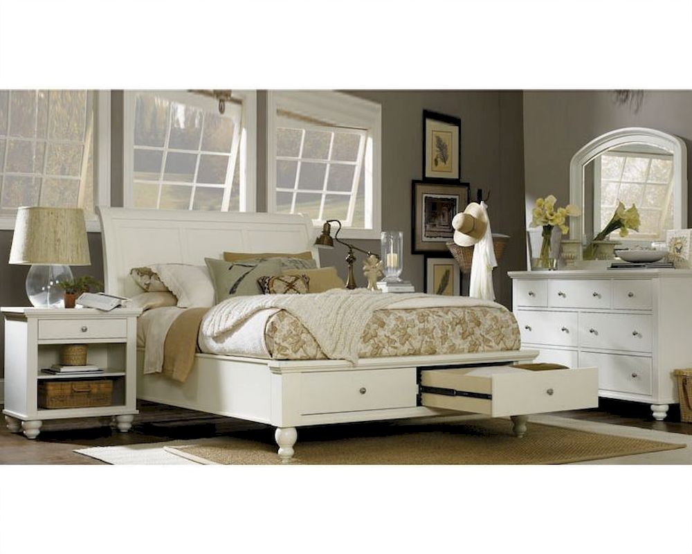 Aspen cambridge sleigh storage bedroom asicb 40 2 Aspen home bedroom furniture prices
