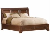 Aspen Richmond Sleigh Bed w/Storage AS40-400STORAGE
