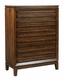 Aspenhome 5 Drawer Chest Walnut Park ASI05-456