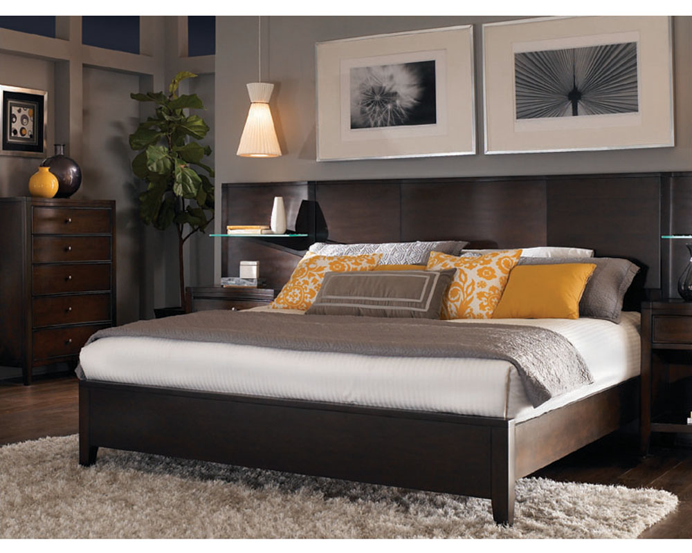 Aspenhome Bed W Curved Panel Headboard Contour Asi11 412
