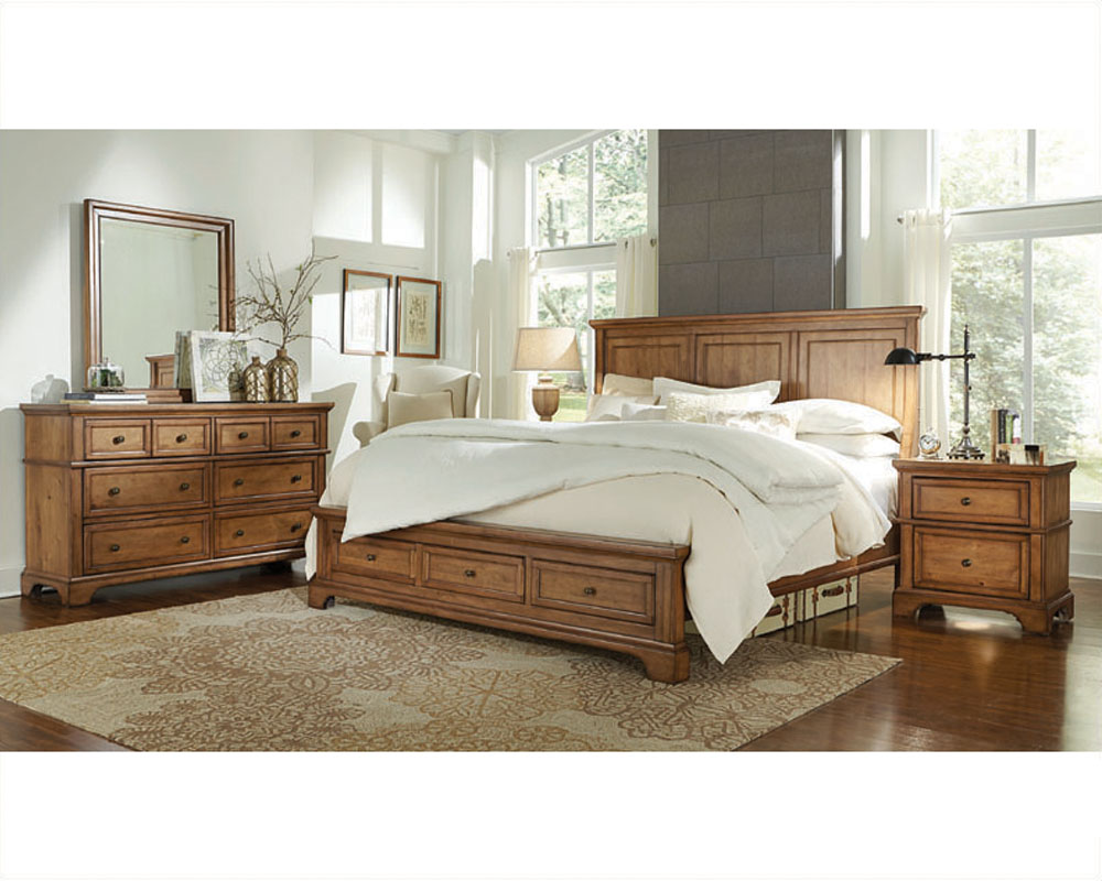 aspenhome bedroom w panel bed alder creek asi09 400set