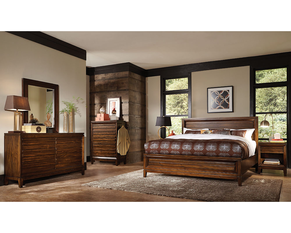 Aspenhome bedroom set w panel bed walnut park asi05 412set Aspen home bedroom furniture prices
