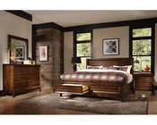 Aspenhome Bedroom Set w/ Panel Storage Bed Walnut Park ASI05-412SSET