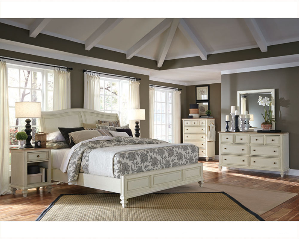 Aspenhome bedroom w sleigh bed cottonwood asi67 400 4set Aspen home bedroom furniture prices