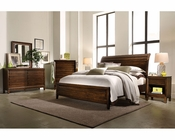 Aspenhome Bedroom Set w/ Sleigh Bed Walnut Park ASI05-400SET