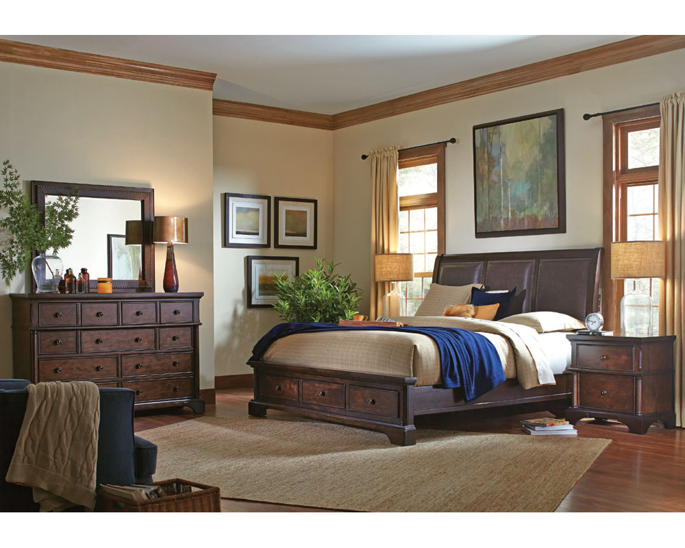 Aspenhome Bedroom Set W Storage Bed Bancroft Asi08 422sset