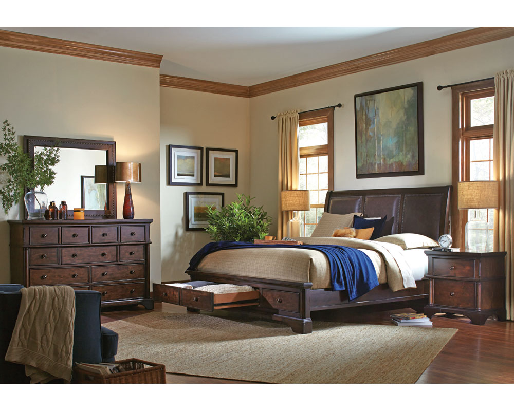 Aspenhome bedroom set w storage bed bancroft asi08 422sset Aspen home bedroom furniture prices
