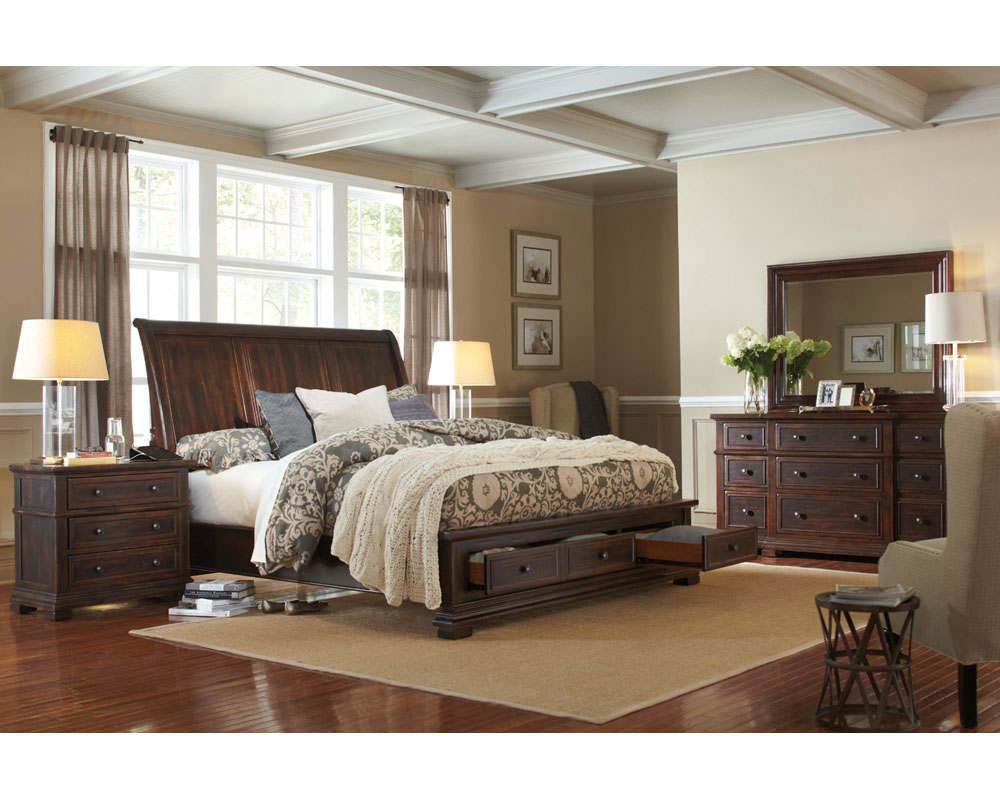 Aspenhome bedroom set w storage bed westbrooke asi59 400sset Aspen home bedroom furniture prices