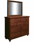 Aspenhome Chesser and Mirror Cambridge in Cherry ASICB-555-63-BCH