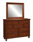 Aspenhome Chesser and Mirror Madison ASIA200-455-63BRH