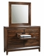 Aspenhome Chesser and Mirror Walnut Park ASI05-455-63