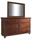 Aspenhome Dresser and Mirror Cambridge in Cherry ASICB-554-63-BCH