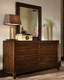Aspenhome Dresser and Mirror Walnut Park ASI05-453-62