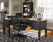Aspenhome E2 72in Curved Half Pedestal Desk Ravenwood ASI65-372