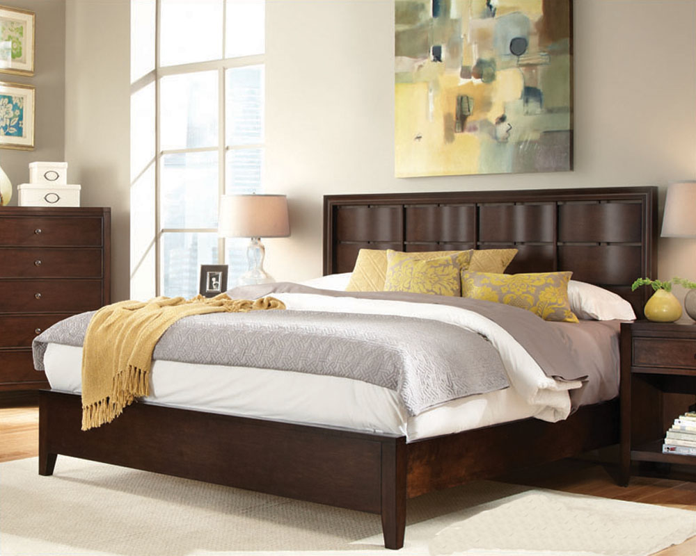 Aspenhome Furniture Bed W Woven Headboard Contour Asi11 427 29bed