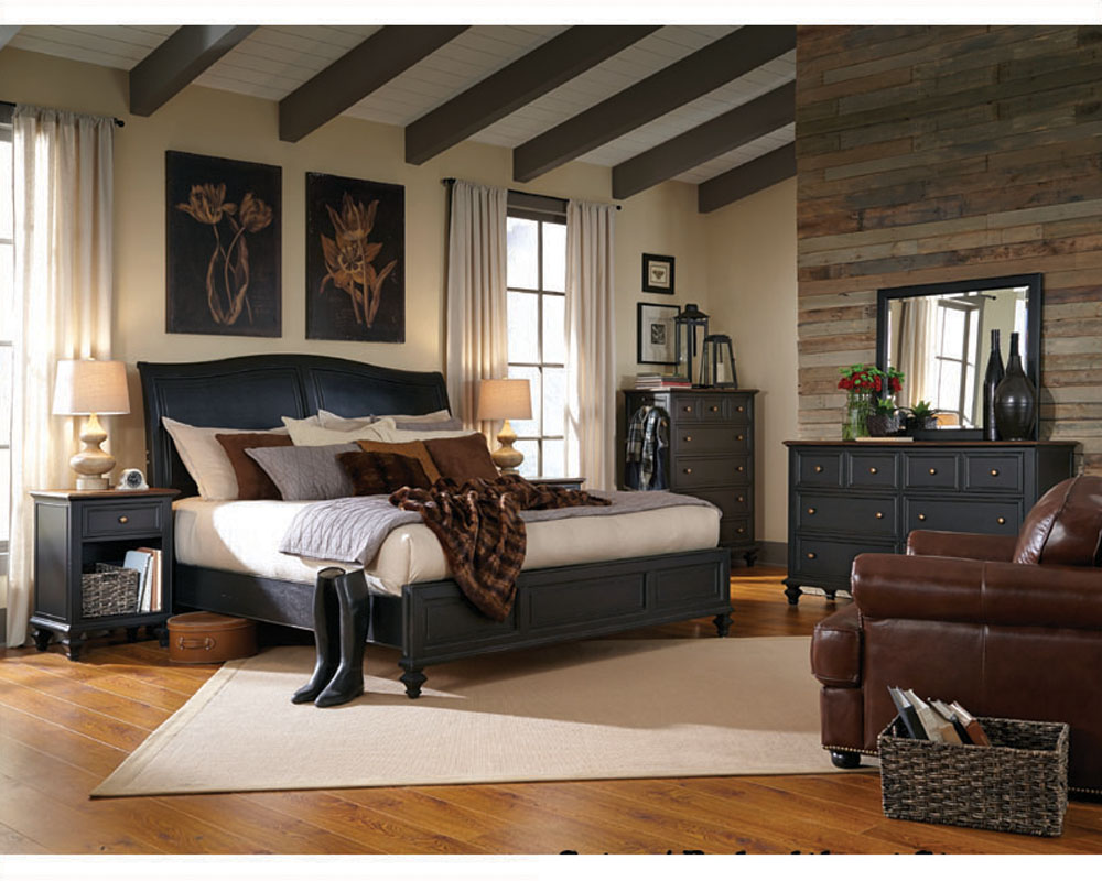 Aspenhome Furniture Bedroom W Sleigh Bed Ravenwood Asi65 400 4set