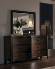 Aspenhome Furniture Dresser with Mirror Contour ASI11-453-62