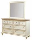 Aspenhome Furniture Dresser with Mirror Cottonwood ASI67-453-62