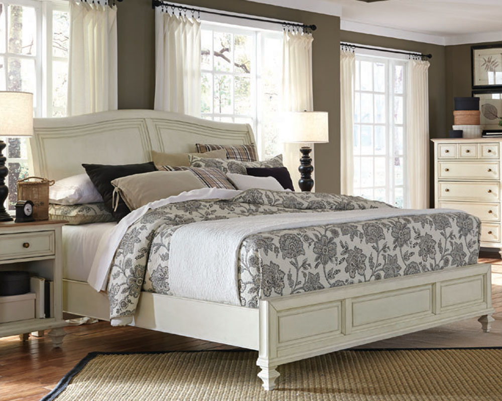 Aspenhome Furniture Sleigh Bed Cottonwood Asi67 400 4bed