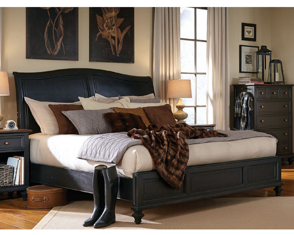 aspenhome furniture sleigh bed ravenwood