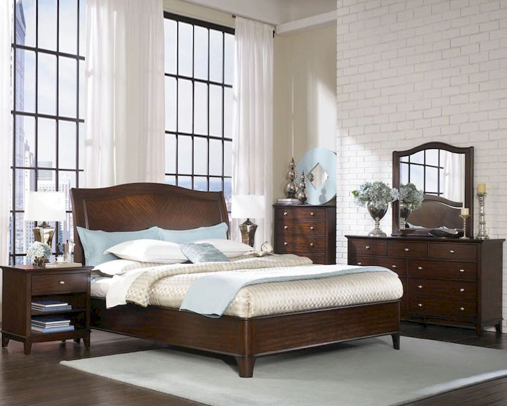 Aspenhome furniture sleigh bedroom lincoln park asi82 400set Aspen home bedroom furniture prices