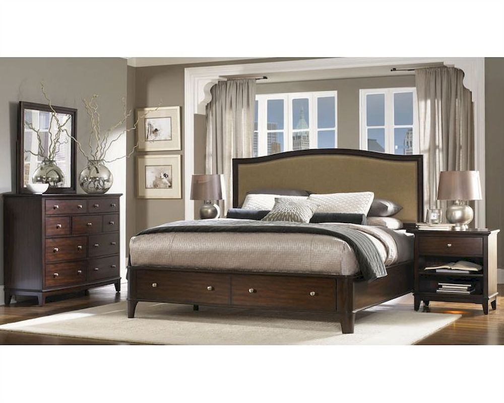 Aspenhome panel storage bedroom lincoln park asi82 412stset Aspen home bedroom furniture prices