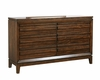 Aspenhome Six Drawer Dresser Walnut Park ASI05-453