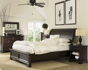 aspenhome sleigh bedroom bayfield asi70 400set