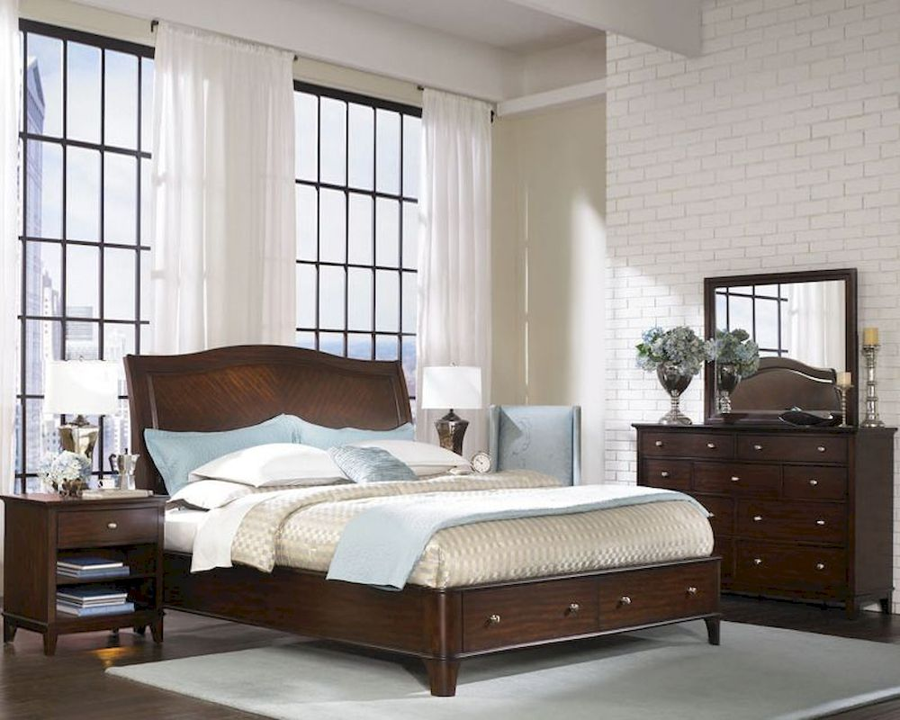 Aspenhome Sleigh Storage Bedroom Lincoln Park Asi82 400stset