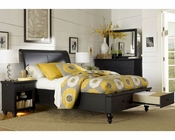 Aspenhome Storage Sleigh Bed Cambridge In Black Asicb 500stbed Blk