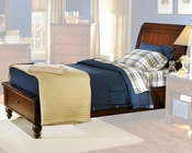 Aspenhome Storage Sleigh Bed Cambridge in Cherry ASICB-500STBED-BCH