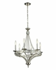 ELK Aubree Collection 6 Light Chandelier in Polished Nickel EK-31501-6