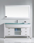 Ava White 61in Single Bathroom Set by Virtu USA VU-MS-5061-G-WH
