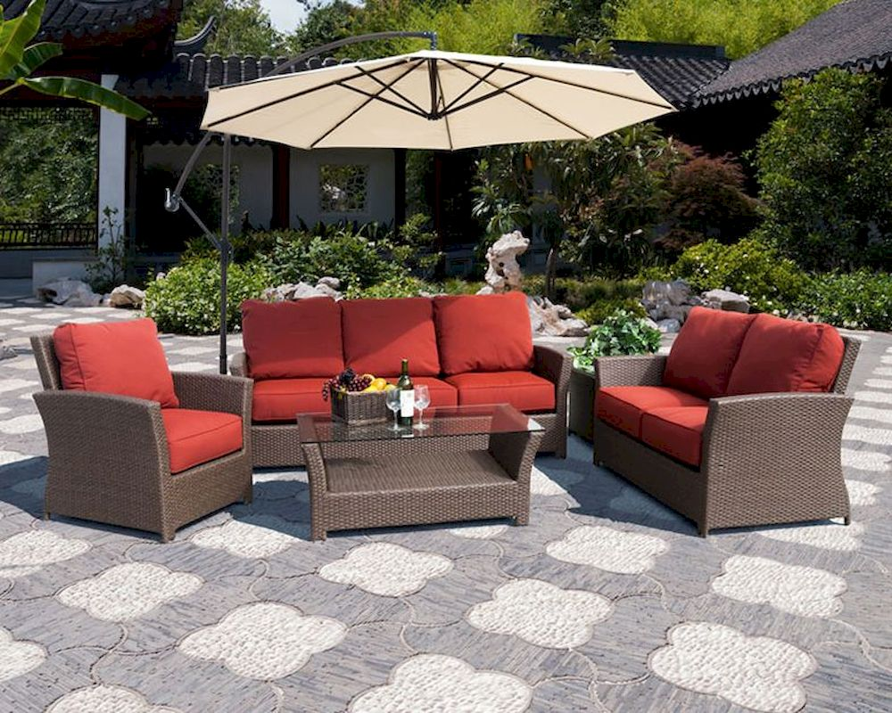 Avalon Patio Sofa Set by Sunny Designs SU-4753-Set on Outdoor Loveseat Sets id=91858