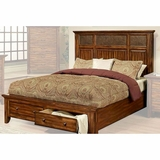 Ayca Bed In Cherry Finish Marissa Country AY 21 02Bed