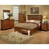 Attrayant Ayca Bedroom Set In Cherry Finish Marissa Country AY 21 02Set